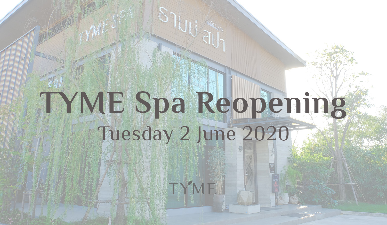 TYME Spa Reopening